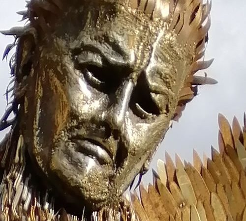 Knife Angel visiting Chesterfield…